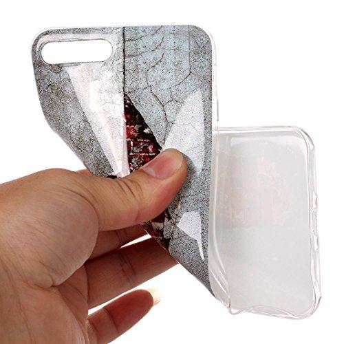 iPhone 7 Plus Case, iPhone 8 Plus Hülle Silikon, Moon mood® TPU Silikon Handyhülle Schutzhülle Case für Apple iPhone 8 Plus / 7 Plus 5.5 Zoll Thin Dünn Weich TPU Schutz Etui Cover, Flexibel Silikon Ca Muster 3