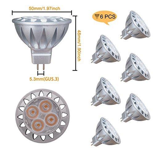 ALIDE mr16 gu5.3 led-birnen 5w, ersetzen 35w halogen equivalentceil im freien landschaftsbeleuchtung 5048mm warmweiß - Bi-pin-halogen-sockel