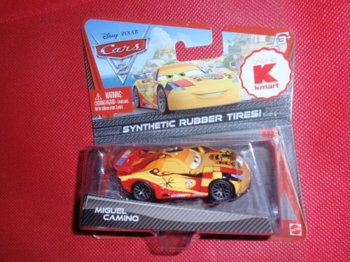 Disney Pixar - Synthetic Rubber Tires - Kmart Exclusive - CARS 2 - 1:55 Scale - MIGUEL CAMINO - NEW MOC by Mattel