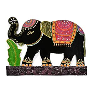 Handmade Wooden Key Holder for Wall in Elephant Shape