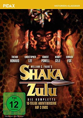 Shaka Zulu / Fulminant besetzte 10-teilige Historienserie um den legendären Kriegerkönig (Pidax Historien-Klassiker) [3 DVDs]