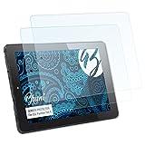 Bruni Schutzfolie für CSL Panther Tab 9 Folie - 2 x glasklare Displayschutzfolie