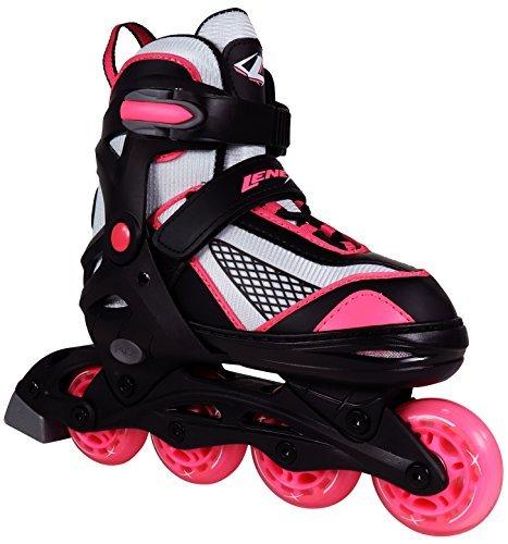 Mädchen Lenexa Venus schwarz & rosa verstellbare Inline Skates, Mädchen, schwarz / pink