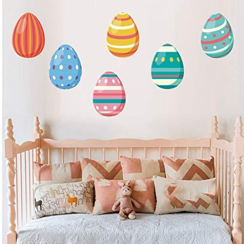 Gaddrt easter egg wall sticker pvc self-adhesive can be removed stile fumetto soggetto plane wall sticker per parete,per piastrelle