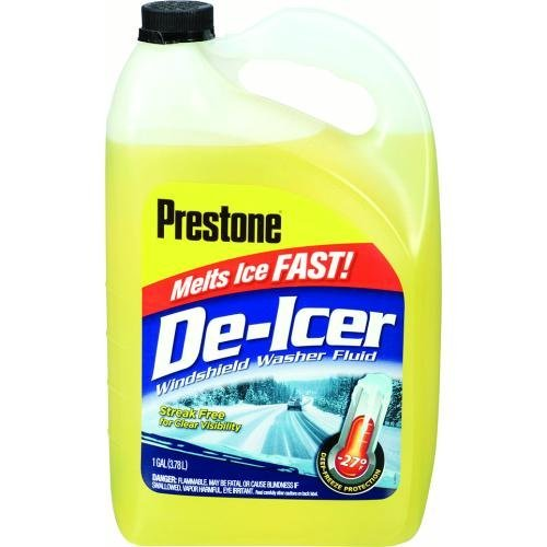 Prestone AS250 De-Icer Windshield Washer Fluid - 1 Gallon by Prestone - 1 De Icer