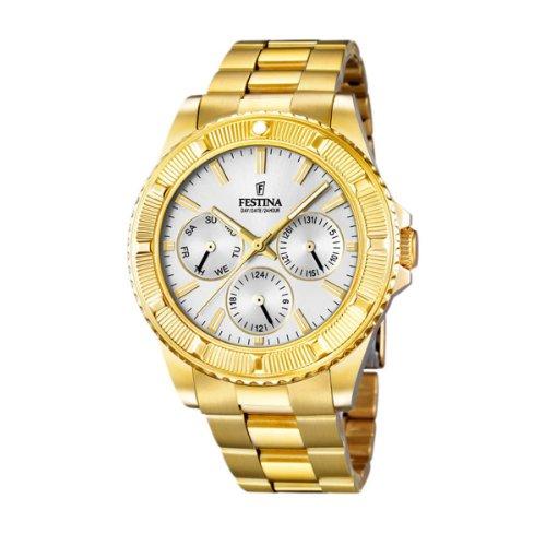 Festina F16693/1 - Reloj de cuarzo para hombre, con correa de acero inoxidable, color dorado