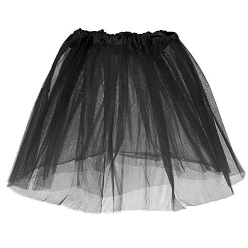 Phenovo Girls Kids Black Grenadine Tutu Princess Mini Skirt Summer Party Dancewear  available at amazon for Rs.285
