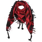 Superfreak Palituch - schwarz - rot - 100x100 cm - Pali Palästinenser Arafat Tuch - 100% Baumwolle