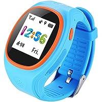 Niños Kid Smart Watch S866A Monitorización Remota SOS Kid Pedometer Posicionamiento GPS Por el iPhone y Android Smartphone , blue DUWIN