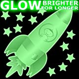 CUTE SPACE ROCKET Glow-in-the-Dark stickers - MEDIUM