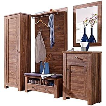 stella trading blcc303081 garderobenkombination akazie dunkel nachbildung circa 250 x 200 x 40. Black Bedroom Furniture Sets. Home Design Ideas