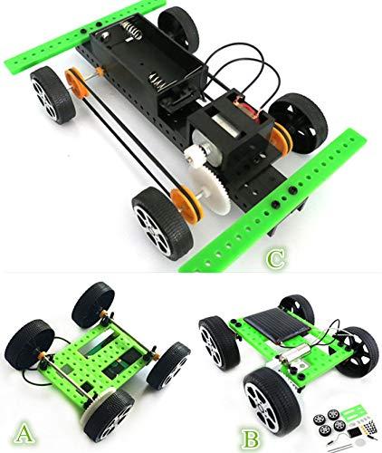 Skryo 1 Satz Mini Solarbetriebene Spielzeug DIY Car Kit Kinder Pädagogisches Gadget Hobby - Solar Power Kostüm