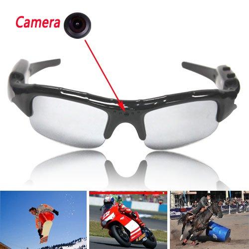 Boriyuan 720 x 480 pixel Video DVR Videokamera Radbrille Spionsonnenbrille Sonnenbrille mit Kamera Tasche mit Fernbedienung, Ton und Video Recorder. 720 X 480 Video -