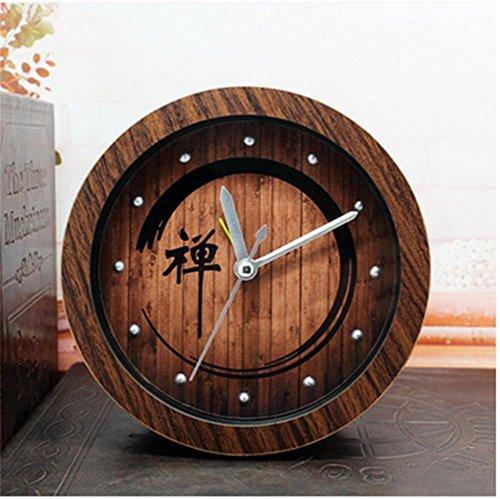 pengweiRetro-Garten im chinesischen Stil Holz Zen Wecker faul desktop Wecker und Zen-meditation , old peach wood (Wellness-meditation-garten)