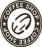 Kaffeeaufkleber Braun - 9x10 cm, 620085 - Wandtattoo für die Küche Wohnzimmer Text / - Coffeeshop - Kaffee Wandaufkleber Wandtatoos Sticker Aufkleber für die Wand, Fensterbild, Tapete, Fliesen, Autoaufkleber, Türaufkleber