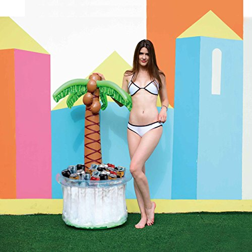 Price comparison product image Splosh Palm Tree Inflatable Drinks Cooler