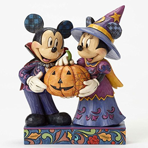 Jim Shore Mickey & Minnie Halloween Figurine by (Halloween Jim Shore)