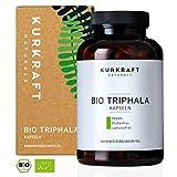 Kurkraft Bio Triphala (180 Kapseln) - LABORGEPRÜFT - 500mg - Original Ayurveda aus dem Perikarp - in Bio-Qualität - Vegan & Naturbelassen - Sorgfältig hergestellt in Deutschland