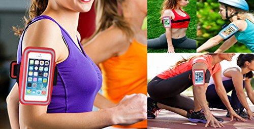 Smile YKK Damen Herren Outdoor Sport Running Taschen Radfahren Lauftasche Handytasche Sportarmband Hülle Armtasche Schwarz