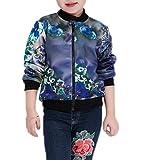 Bigood Modern Geblümt Kind Mädchen Herbst Sommer Long Sleeve Jacke Mantel Outwear Kinderjacke