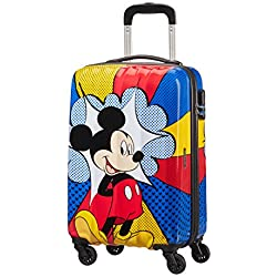 Disney Disney Legends - Spinner 55/20 Alfatwist Equipaje de mano, 55 cm, 32.5 liters, Varios colores (Mickey Flash Pop)