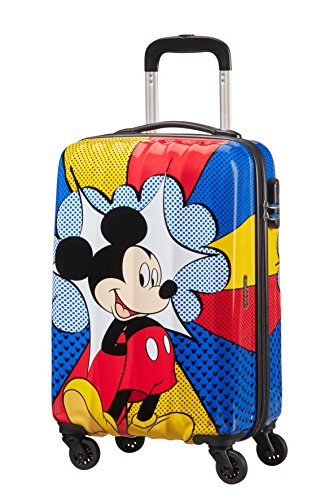 Disney Disney Legends - Spinner 55/20 Alfatwist Bagaglio a mano, 55 cm, 32.5 liters, Multicolore (Mickey Flash Pop)