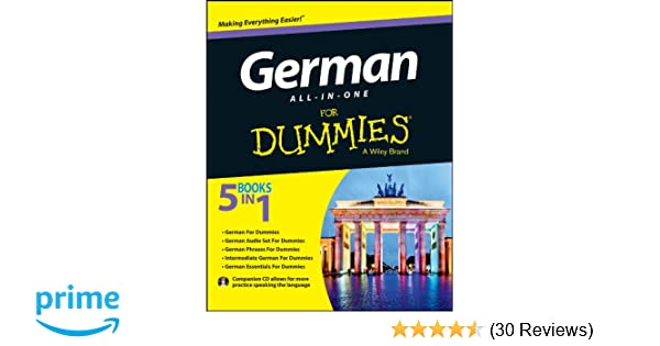German All In One For Dummies With Cd Amazon Co Uk Wendy Foster