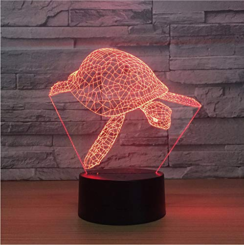 Night light Sea Turtle 3d Lampe 7 Couleur Table Lampe De Nuit Pour Enfants Toucher Led Usb Bébé Dormir Veilleuse