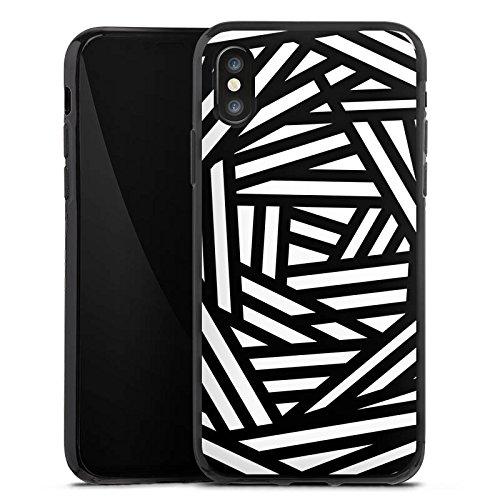 Apple iPhone 6 Plus Silikon Hülle Case Schutzhülle Muster Abstrakt Schwarz Silikon Case schwarz