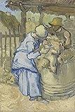 JH Lacrocon Van Gogh - Die Schaf-Schermaschinen Nach Hirse Leinwandbilder Reproduktionen Gerollte 50X75 cm - Figur Gemälde Gedruckt Wandkunst