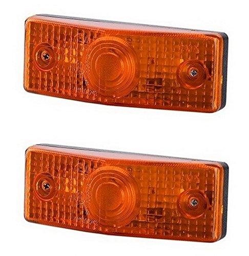 2 x Orange Side Marker Light 12V 24V E-marked Car Truck for sale  Delivered anywhere in UK