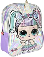 Cerda LOL Surprise School Backpack Unicorn Purple Silver Holographic, 32 Centimeter