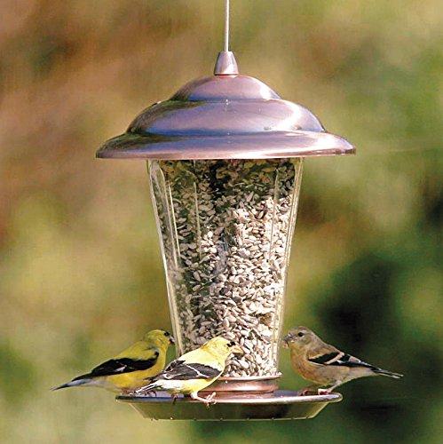 Imitation Kupfer Outdoor Vogelfutter Cage Nest Vogel Haus Garten Garten Dekorative Vogel Feeder (Vögel Feeder Pole)