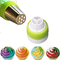 Olycism Tri-Color Acoplador de Crema Boquillas de Glaseado Acoplador Decoración Pasteles Herramientas para Tartas