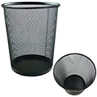 Rose Evans 4352915031 - Papelera circular de tipo malla, color negro