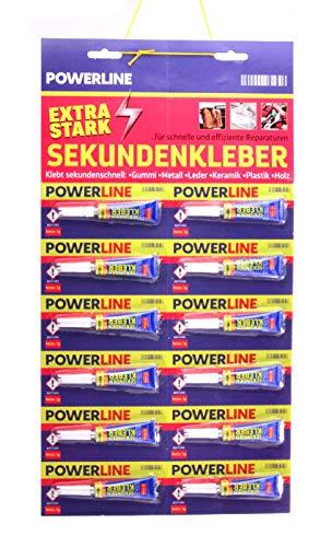 Sekundenkleber Extra Stark 12Stk. | 3g pro Tube | wasserfest transparent | Universale Sofortkleber