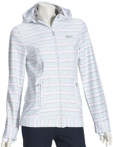 Roxy Outerwear Miles Away Veste pour femme Blanc - Micro Stripe White