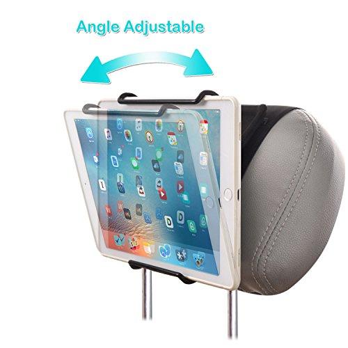 WANPOOL Soporte Reposacabezas Universal con ángulo - Abrazadera de Sujeción Ajustable para iPads, Tabletas Samsung y Más