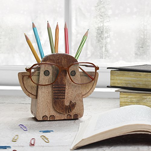 Store Indya Spectacle Holder Wooden Eyeglass Stand Elephant Design handmade Display Optical...