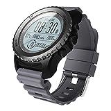 Festnight Outdoor Smart Sport GPS Uhr Wasserdichte Uhr Sportuhr mit Pulsmesser Kompass Höhenmesser Thermometer für Laufen Schwimmen Wandern Radfahren