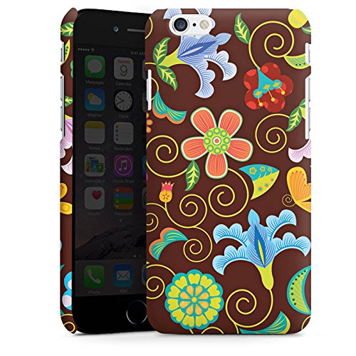 Apple iPhone X Silikon Hülle Case Schutzhülle Retro Bunt Blumen Premium Case matt