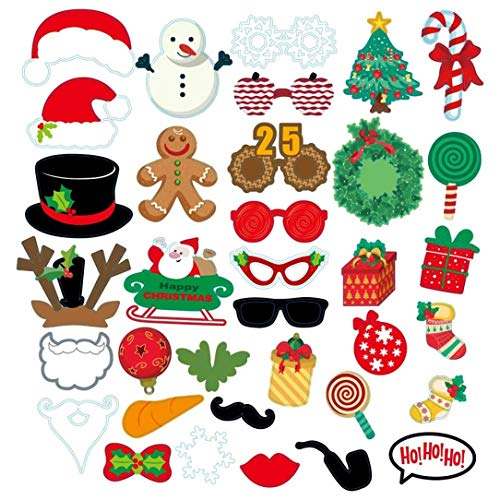 Izhiheng Ausführliche Weihnachtsfoto -Props Party Tools Make -Up Kostüm Dekoration Festival Masken(None 47)
