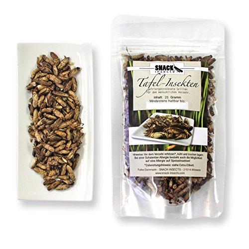 Essbare Insekten - Grillen 25g / Snack-Insects