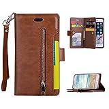 Asnlove Portefeuille Coque pour iPhone 6/6S, Couleur Pure Flip Cover PU Cuir Porte...