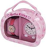 Hello Kitty Mädchen - Armbanduhr Analog Quarz Geschenkset für Mädchen Rosa