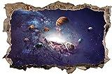 Weltall Universum Planeten Wandtattoo Wandsticker Wandaufkleber D1019 Größe 70 cm x 110 cm