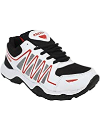 Arexon Men's Synthetic White Colored Sport Shoe( Men's Running Shoe, Breathable Sports Shoe, High Grip Sports...