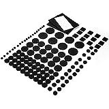 Keten Almohadillas De Fieltro Para Muebles 174 Uds. con Cinta Autoadhesiva Resistente, Protectores De Fieltro Adhesivo Para Muebles / Suelos De Madera / Sillas / Muebles De Jardín (Color Negro)