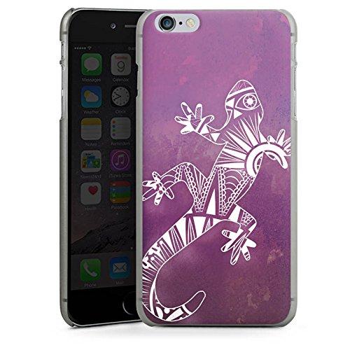 Apple iPhone X Silikon Hülle Case Schutzhülle Mandala Eidechse Gecko Hard Case anthrazit-klar