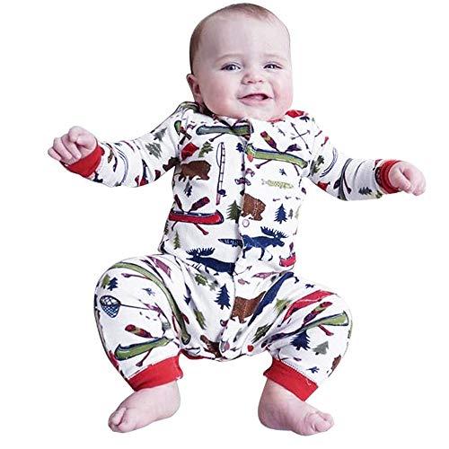 d20ca334c7be4 DAY8 Combinaison Noël Bébé Garçon Hiver Pyjama Noël Bébé Fille Naissance  0-18 Mois Automne
